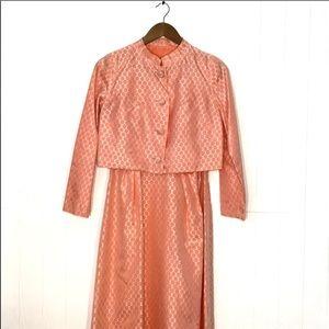 Leslie Karl | Vintage Tank Dress W/ Cropped Jacket
